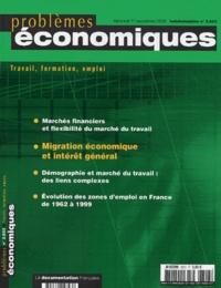 Eric Weinstein et Loïc Cadiou - Problèmes économiques N° 2823 - Mercredi 1 : .