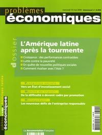 Carlos Quenan et Bruno Lautier - Problèmes économiques N° 2899, Mai 2006 : L'Amérique latine après la tourmente.