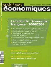 François Héran et Gilles Pison - Problèmes économiques N° 2932, mercredi 10 : Le bilan de l'économie française 2006/2007.