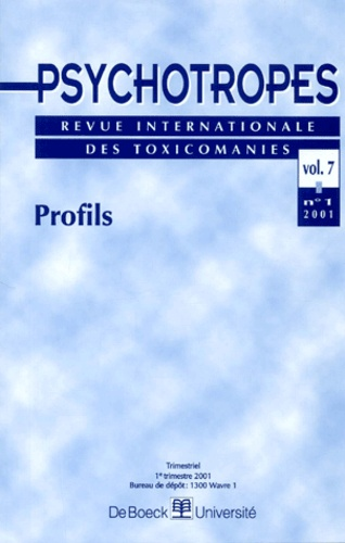 Pierre Angel - Psychotropes Volume 7 N° 1/2001 : Profils.