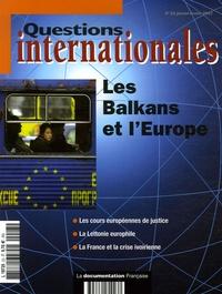 Serge Sur et Jérôme Gallois - Questions internationales N° 23, Janvier-Févri : Les Balkans et l'Europe.