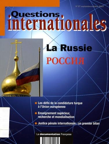 Serge Sur - Questions internationales N° 27, Septembre-Oct : La Russie.