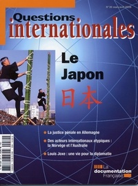 Serge Sur et Jean-Marie Bouissou - Questions internationales N° 30, Mars-Avril 20 : Le Japon.