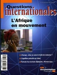 Serge Sur - Questions internationales N° 33, septembre-oct : L'Afrique en mouvement.