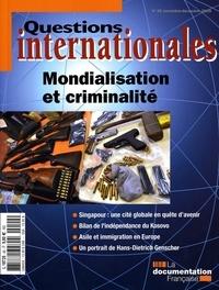 Serge Sur - Questions internationales N° 40, Novembre-Déce : Mondialisation et criminalité.