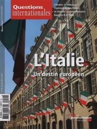 Serge Sur - Questions internationales N° 59, Janvier-Févri : L'italie : un destin europeen.