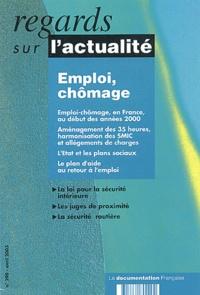 Christine Erhel et Denis Sérandon - Regards sur l'actualité N° 290 Avril 2003 : Emploi, chômage.