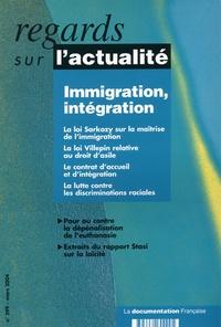 Danièle Lochak et François Julien-Laferrière - Regards sur l'actualité N° 299, Mars 2004 : Immigration, intégration.