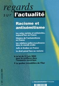 Madeleine Rebérioux et Farouk Mardam-Bey - Regards sur l'actualité N° 305, Novembre 200 : Racisme et antisémitisme.