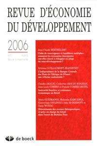 Jean-Claude Berthélemy et Sylviane Guillaumont Jeanneney - Revue d'économie du développement N° 1, Mars 2006 : .