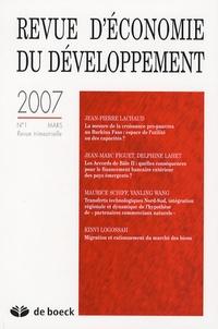Jean-Pierre Lachaud et Jean-Marc Figuet - Revue d'économie du développement N° 1, mars 2007 : .