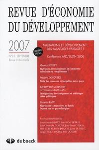 Frédéric Docquier et Patrick Guillaumont - Revue d'économie du développement N° 2-3, Septembre 20 : Migrations et développement : des avantages partagés ? - Conférence AFD/EUDN 2006.