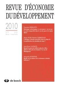 Francisco Serranito et Désiré Avom - Revue d'économie du développement N° 2, Juin 2010 : .