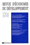 Jean-Claude Berthélemy et Sylviane Guillaumont-Jeanneney - Revue d'économie du développement N° 2006/1 : .