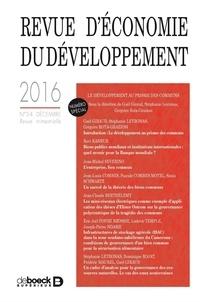 De Boeck - Revue d'économie du développement N° 3-4, décembre 201 : Le développement au prisme des communs.