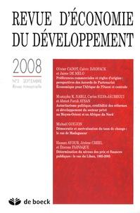 Olivier Cadot et Calvin Djiofack - Revue d'économie du développement N° 3, Septembre 2008 : .
