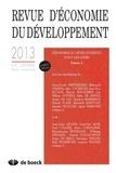 Patrick Guillaumont - Revue d'économie du développement N° 4, Décembre 2013 : L'économie du développement vingt ans après - Volume 2.