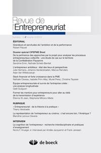 Robert Paturel - Revue de l'Entrepreneuriat Volume 12/2013 N° 1- : Dossier spécial CIFEPME Brest.
