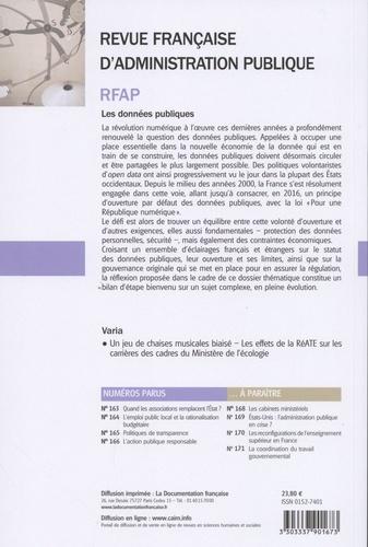 Revue française d'administration publique N° 167/2018 Les données publiques