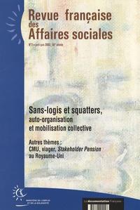 Françoise Leclerc - Revue française des affaires sociales N° 2, Avril-Juin 200 : Sans-logis et squatters, auto-organisation et mobilisation collective.
