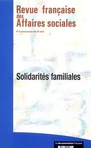 Pierre Strobel et Isabelle Sayn - Revue française des affaires sociales N° 4, Octobre-Décemb : Solidarités familiales.