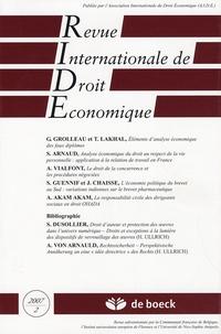 Gilles Grolleau - Revue Internationale de Droit Economique N° 2, Tome 21, 2007 : .