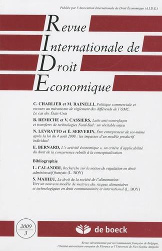 Alfio Pappalardo - Revue Internationale de Droit Economique N° 23, 3, 2009 : .