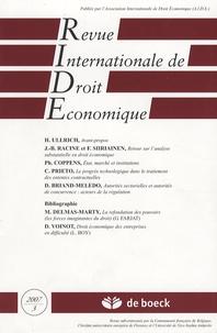 Jean-Baptiste Racine et Fabrice Siiriainen - Revue Internationale de Droit Economique Tome 21 N° 3/2007 : .