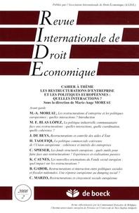 Marie-Ange Moreau - Revue Internationale de Droit Economique Tome 22 N° 2/2008 : Les restructurations d'entreprise et les politiques européennes : quelles interactions ?.