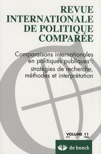 Monika Steffen - Revue internationale de politique comparée Volume 11 N° 3/2004 : Comparaisons internationales en politiques publiques : stratégies de recherche, méthodes et interprétation.