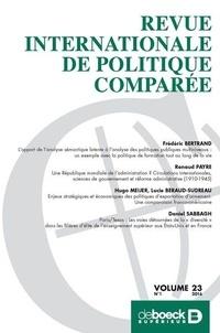 Frédéric Bertrand et Renaud Payre - Revue internationale de politique comparée Volume 23 N° 1/2016 : .