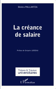 Dimitra Pallantza - La créance de salaire.