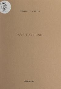 Dimitri T. Analis - Pays exclusif.