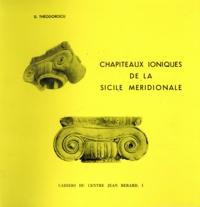 Dinu Theodorescu - Chapiteaux ioniques de la Sicile méridionale.
