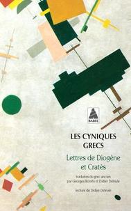 Diogène et  Cratès - Les cyniques grecs - Lettres de Diogène et Cratès.