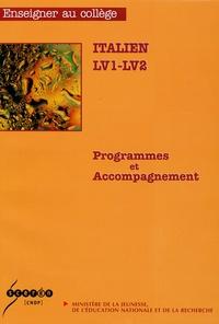 Direction de l'enseignement - Italien LV1-LV2 - Programmes et accompagnements.