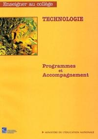 Direction de l'enseignement - Technologie - Programmes et accompagnement.