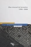 Direction des ressources humai et Catherine Bréchignac - Plan triennal de formation 1998-2000.
