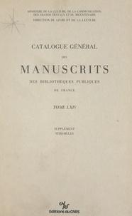 Direction du livre - Catalogue général des manuscrits des bibliothèques publiques de France (64) : Versailles.