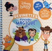 Disney baby - Devinettes pinceau magique (Belle et la Bête au centre) - Avec un pinceau.