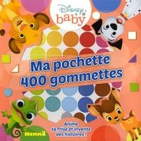 Disney baby - Ma pochette 400 gommettes Les animaux - Anime ta frise et invente des histoires !.