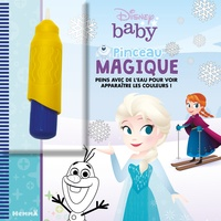 Disney baby - Pinceau magique (La Reine des Neiges) - Peins avec de l'eau pour voir apparaître les couleurs ! Avec 1 pinceau.