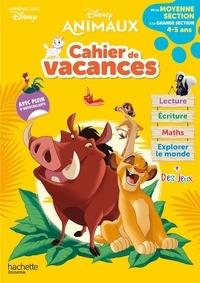 Disney - Cahier de vacances de la Moyenne section à la Grande section - Disney animaux.