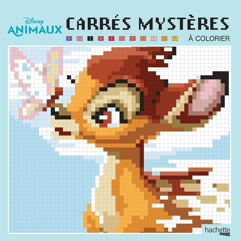 Coloriage Disney Grand Format.Carres Mysteres A Colorier Disney Animaux Grand Format