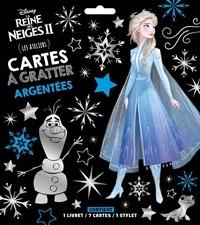 Disney - Cartes à gratter argentées La Reine des Neiges II - Les ateliers. Contient : 1 livret, 7 cartes, 1 stylet.