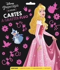 Disney - Cartes à gratter fluo Disney Princesses - Les ateliers. Avec 7 cartes fluo, 7 coloriages et 1 stylet.