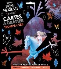 Disney - Cartes à gratter trompe-l'oeil La Reine des Neiges - Les ateliers. Avec 7 cartes, 7 coloriages et 1 stylet.
