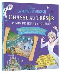 """Disney - Chasse au trésor La Reine des neiges II - Avec 1 carte au trésor, 20 fiches """"enquêtes"""", 1 manuel de jeu et 6 diplômes de chasseurs."""