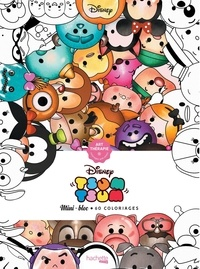 Disney - Coloriages anti-stress Tsum Tsum - Mini bloc, 60 coloriages.