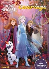 Disney - Coloriages avec stickers La reine des neiges 2.